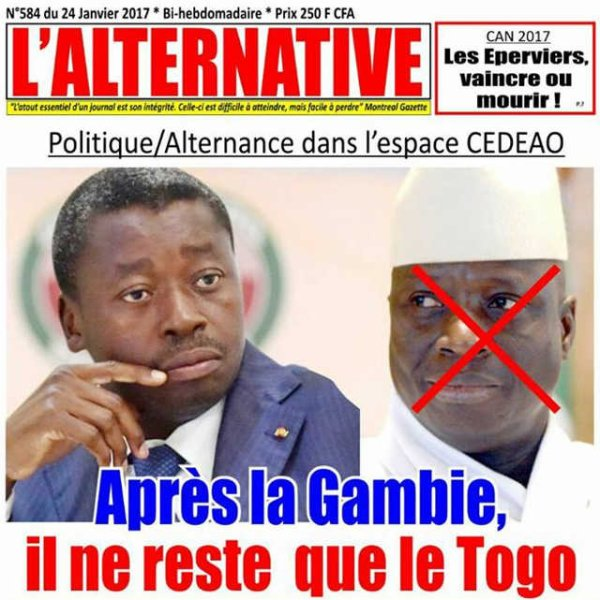 Alternance politique dans l'espace CEDEAO : Après la Gambie, il ne reste que le Togo