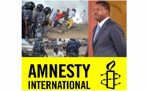 Togo L'arbitraire, l'impunité,...caractérisent le régime UNIR selon Amnesty International