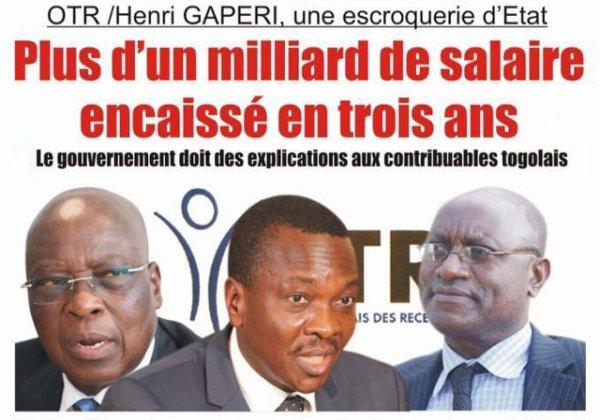Togo, Office Togolais des Recettes ( OTR ) : Le Rwandais Henri Gaperi, une escroquerie d'Etat.
