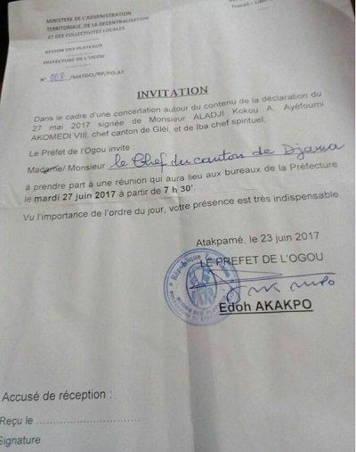 Préfecture de l'Ogou : Les chefs traditionnels rejettent une invitation du préfet ( Et le régime sanguinnaire de Faure Gnassingbé n'a jamais respecté les chefs traditionnels du Togo, lisez plutot)