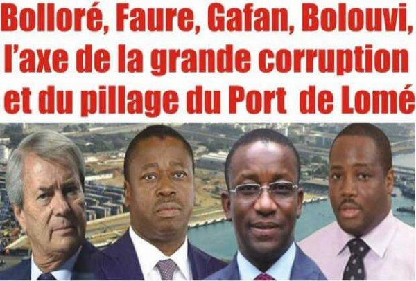 Bolloré, Faure, Gafan, Bolouvi, l'Axe de la Grande Corruption et du Pillage du Port Autonome de Lomé
