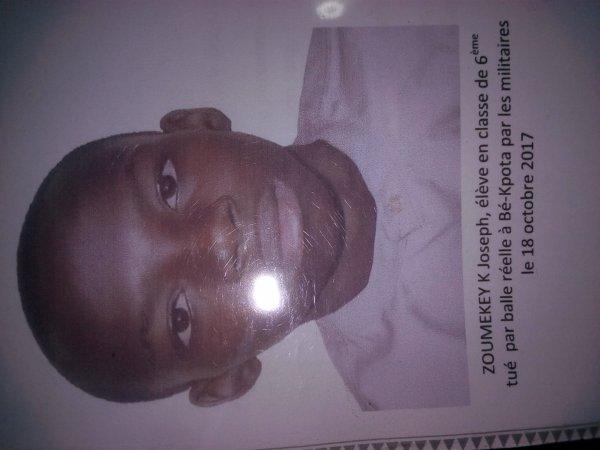 Enfin le pouvoir sanguinaire du Togo reconnaît la mort de l'élève Jojo ! Et les autres enfants tués ?