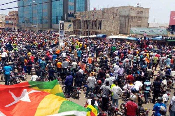 Grande Marche Populaire Pacifique de la C14 à Lomé, le samedi 17 novembre 2018.