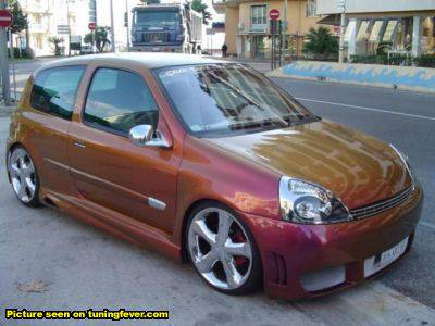 renault clio ii rs tuning interieur