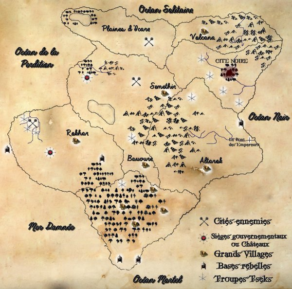 Le Continent - Ses cartes