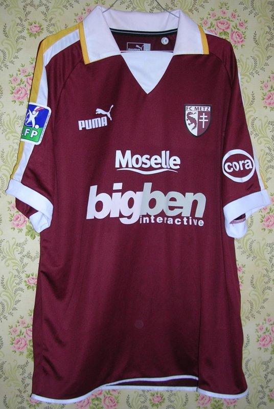 Maillot F.C. METZ Christophe WALTER 2003