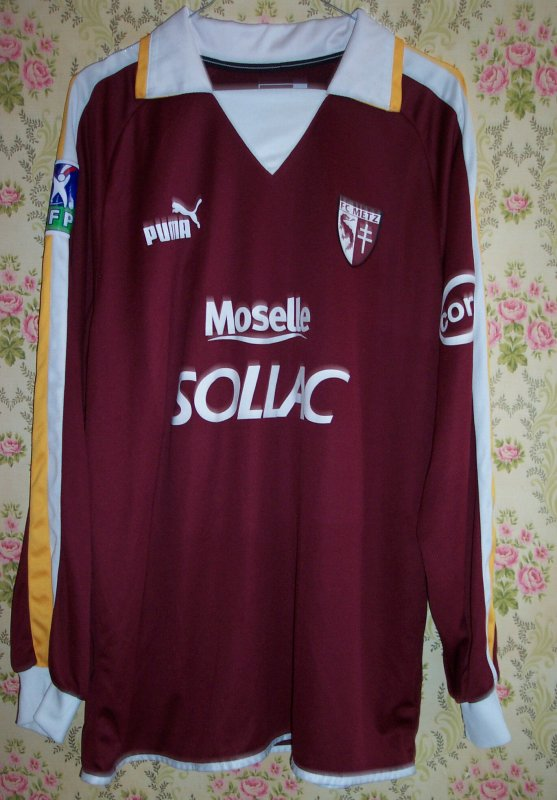 Maillot F.C. METZ Alexandre FRUTOS 2003
