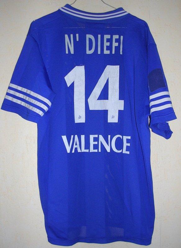 Maillot A.S.O.A. VALENCE Mac Donald N'DIEFI 1996