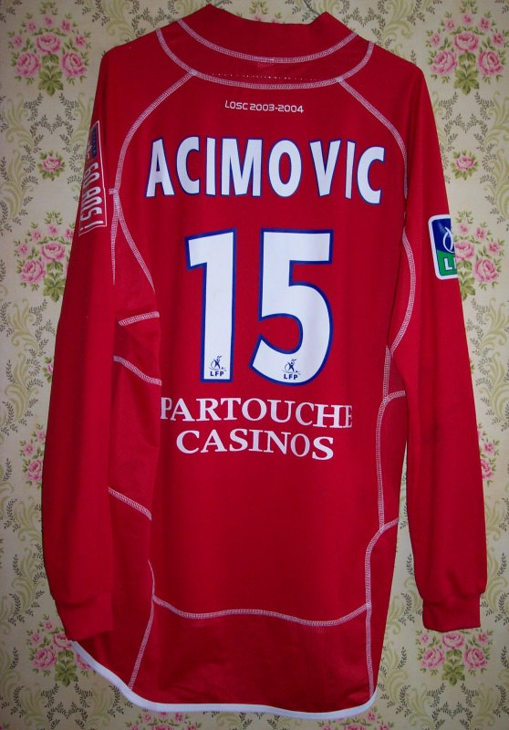 Maillot LILLE O.S.C. Milenko ACIMOVIC 2003