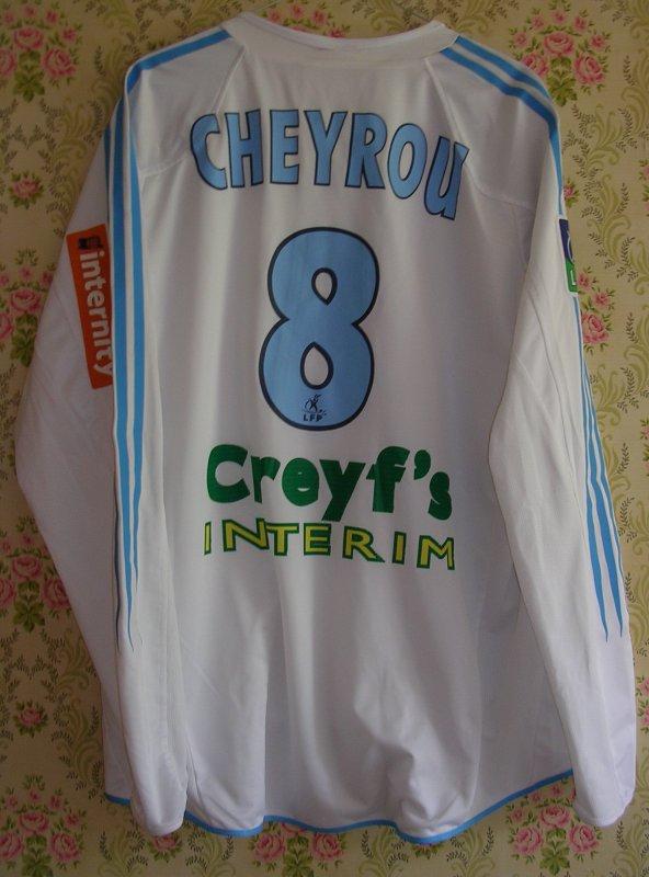 Maillot OLYMPIQUE MARSEILLE Bruno CHEYROU 2004