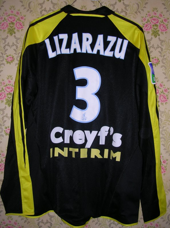 Maillot OLYMPIQUE MARSEILLE Bixente LIZARAZU 2004