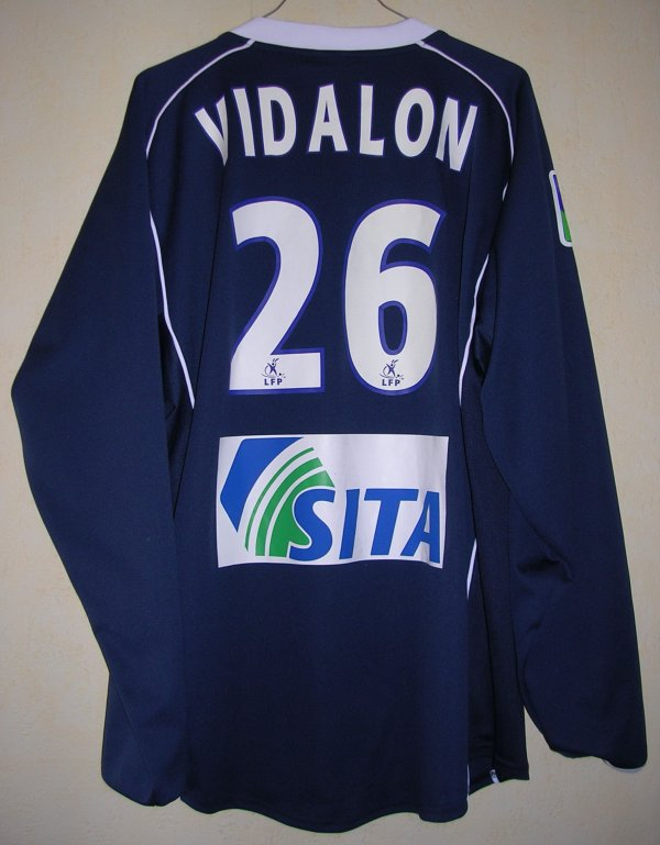 Maillot DIJON FOOTBALL COTE D'OR Fabien VIDALON 2004