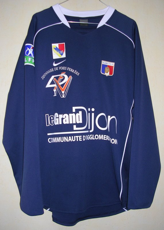 Maillot DIJON FOOTBALL COTE D'OR Fabien VIDALON 2004