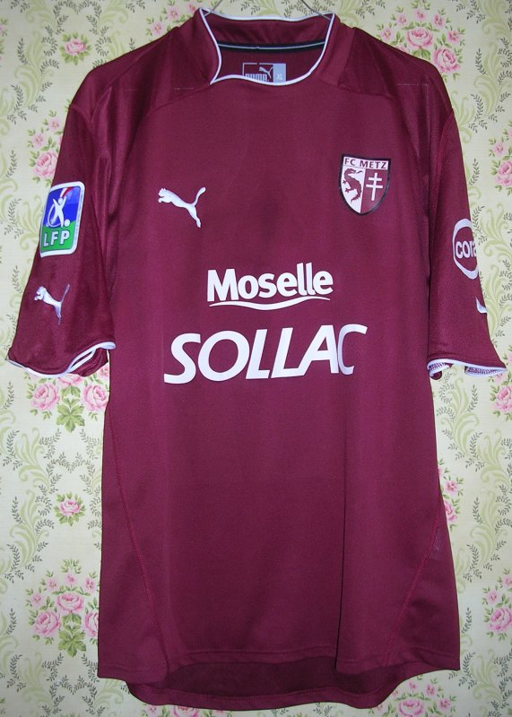 Maillot F.C. METZ Benjamin NICAISE 2004
