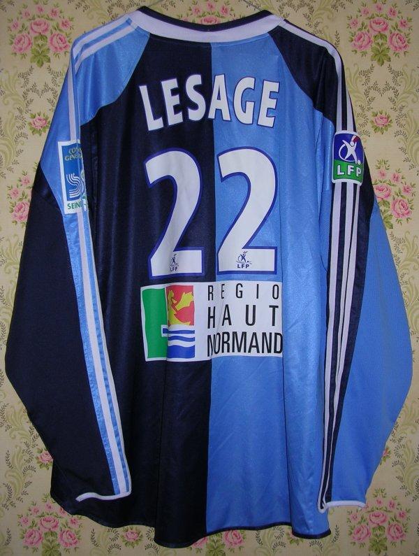 Maillot LE HAVRE A.C. Jean-Michel LESAGE 2004
