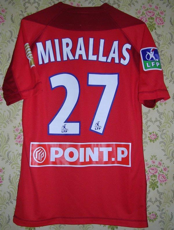 Maillot LILLE O.S.C. Kévin MIRALLAS 2004