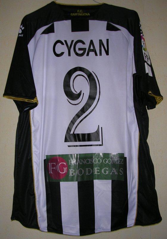 Maillot F.C. CARTAGENE Pascal CYGAN ESPAGNE
