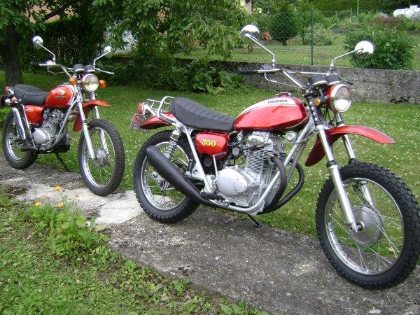 HONDA 125 SL et 350 SL : 2 soeurs ?