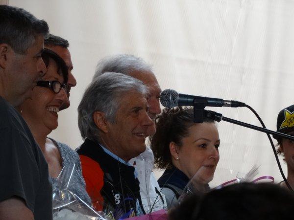 Agostini et Jim Redman au salon de la moto de St Avold