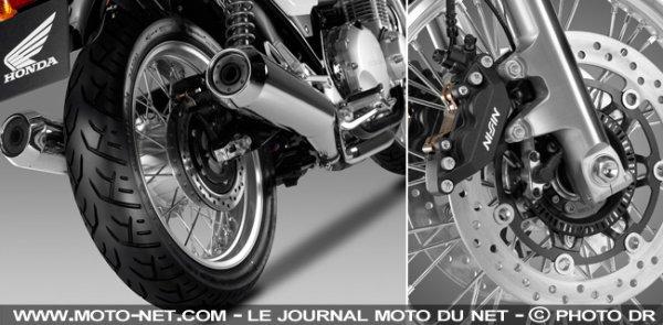 Honda cb 1100 EX : roues à rayons et double échappement