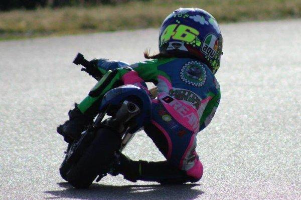 Rossi la relève est assurrée par Valentina 4 ans !
