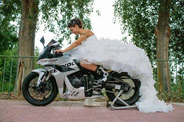 Mariage de Motardes