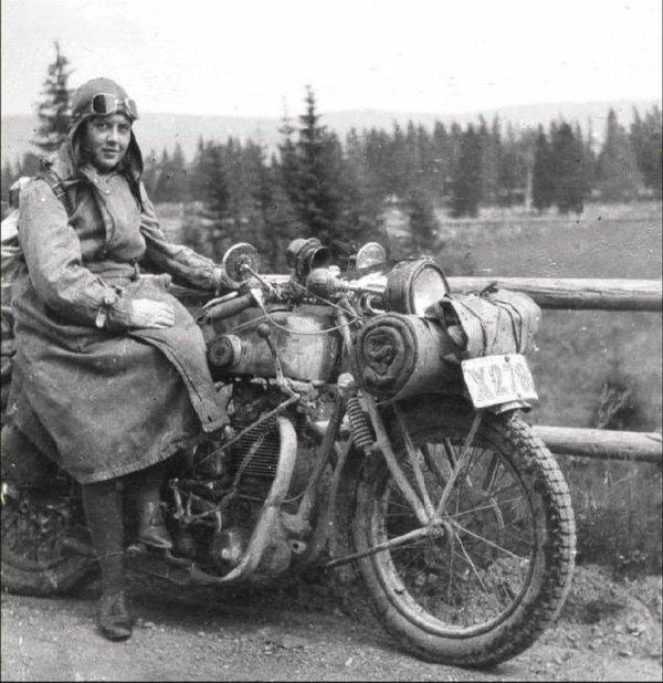 La vraie motarde