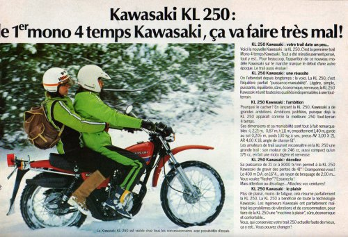 Kawasaki KL250A : le premier trail 4 temps de Kawasaki