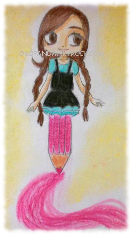 DESSIN16: La femme-crayon