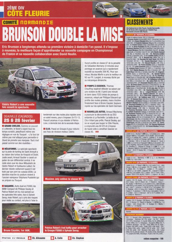 Rallyes magazine Avril 2012 N°231