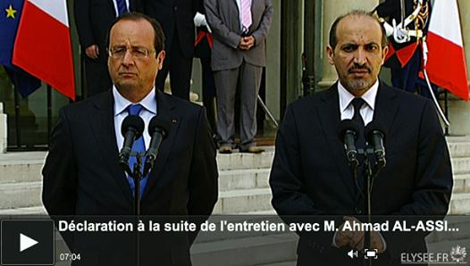 la décision d'Obama de s'en remettre au Congrès embarrassent Hollande