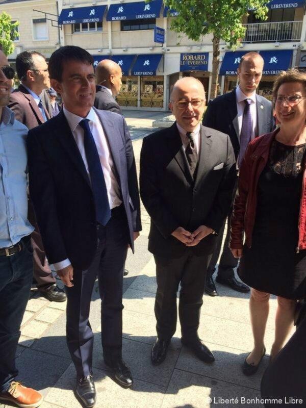 Le Premier ministre Manuel Valls était donc en visite dans le Calvados ce vendredi