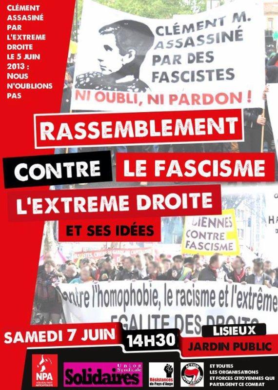 Contre l'extrême droite : manifestation unitaire le 7 juin
