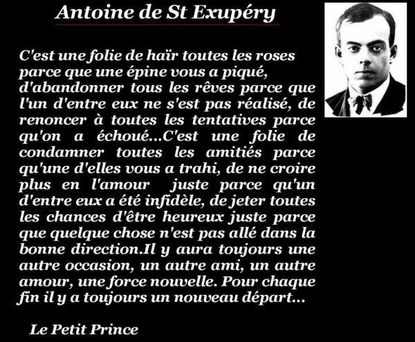 Dans l'attente d'un miracle ......... feat Antoine de St Exupéry!!!