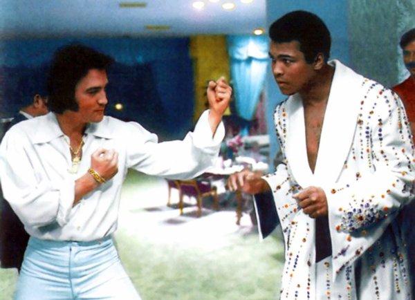 Elvis et Mohammad Ali