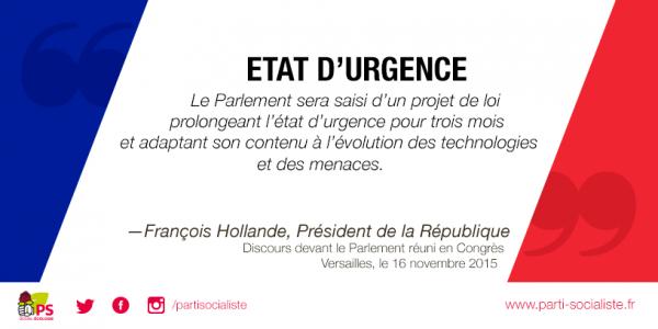 ETAT D'URGENCE !!!