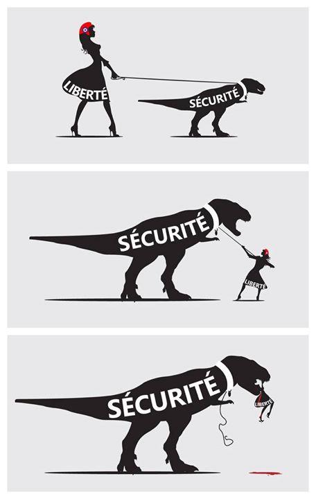 Un peuple prêt à sacrifier un peu de liberté pour un peu de sécurité ............