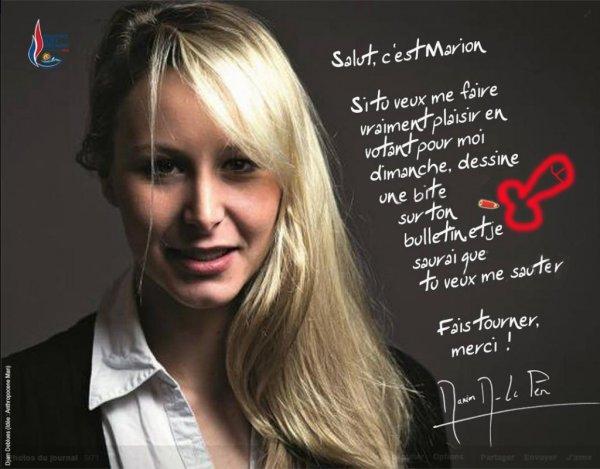 La nièce de Marine Le Pen relance la polémique!!!