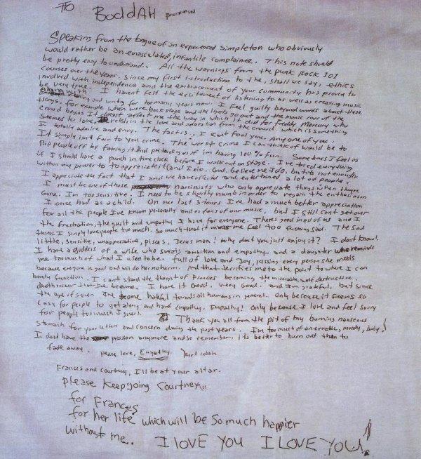 Testament de Kurt Kobain (Nirvana), Il vaut mieux brûler franchement que s'éteindre à petit feu