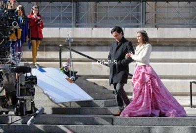 Photos spoilers de Dan et Blair sur le tournage de la saison 5