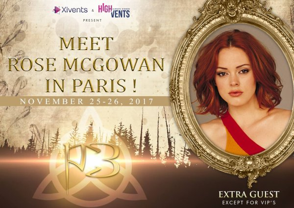 Rose McGowan invité à la convention de 2017.