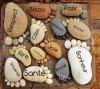 décor... les pieds cailloux dans la plage  :p