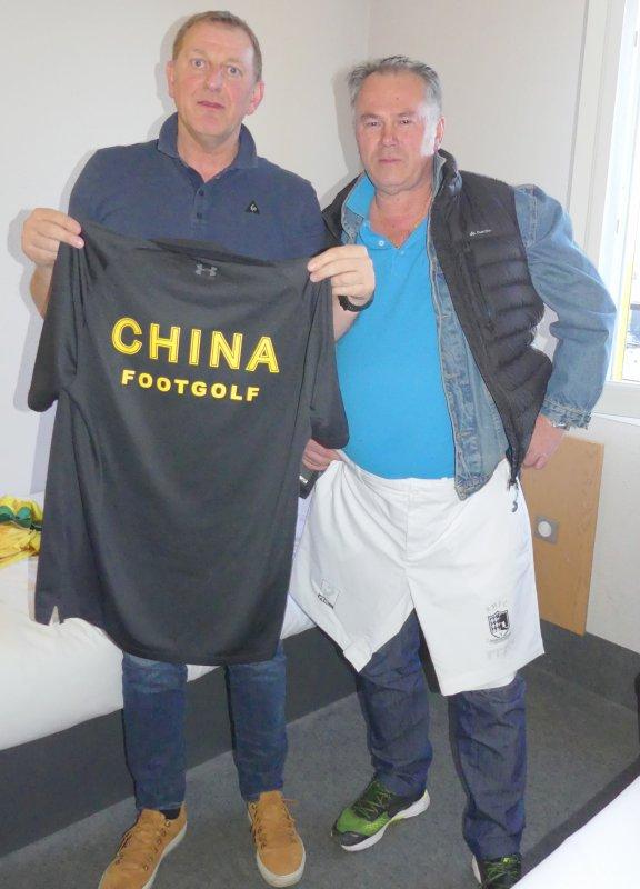 Maillot de l'équipe de Chine de Footgolf