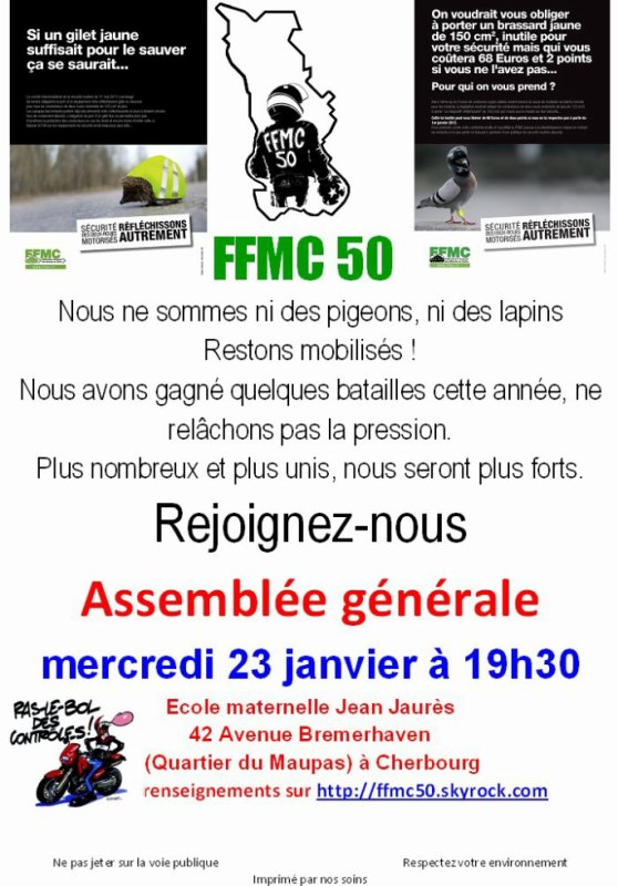 AG de la FFMC le 23 janvier 2013