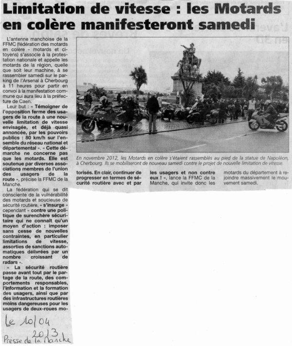Article paeu dans La Presse de La Manche d'aujourd'hui (10/04/2014)