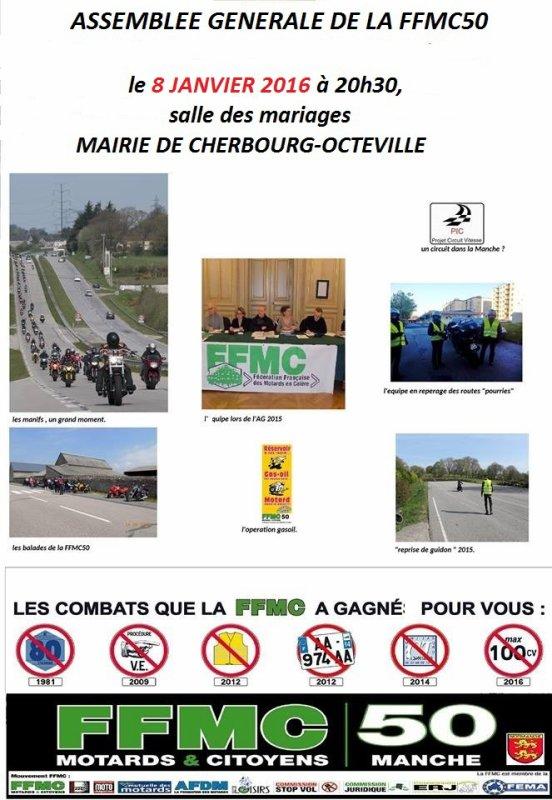 ASSEMBLEE GENERALE LE 8 JANVIER 2016 A 20H30 MAIRIE DE CHERBOURG-OCTEVILLE