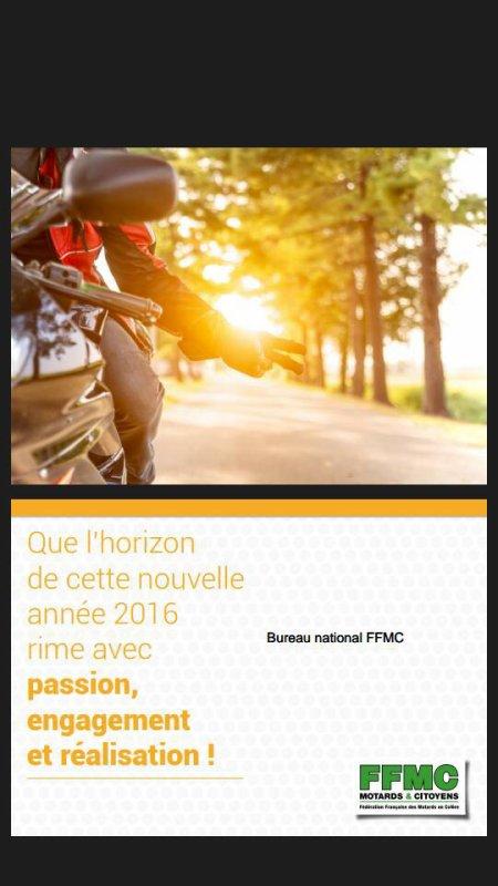 VOEUX DE LA FFMC NATIONALE