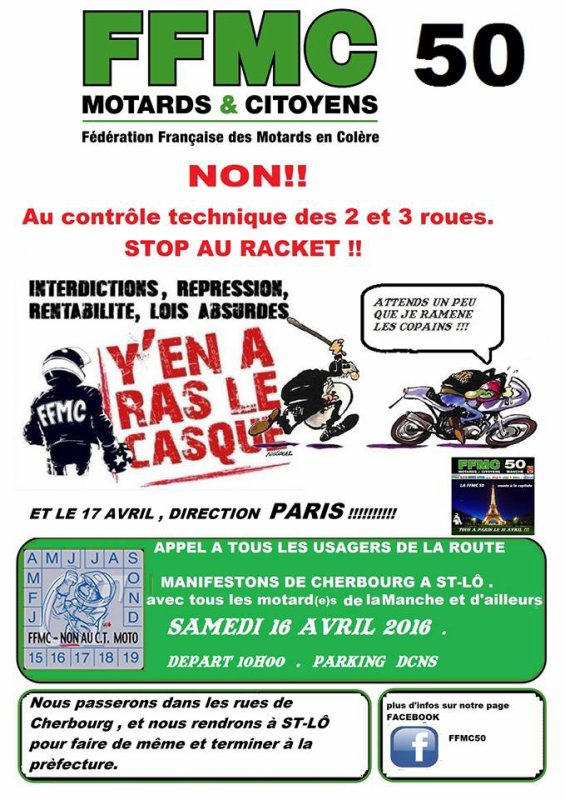 MANIFESTATION LE 16 AVRIL 2016
