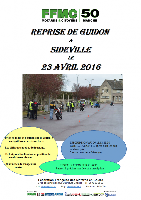 REPRISE DE GUIDON A SIDEVILLE LE 23 AVRIL 2016