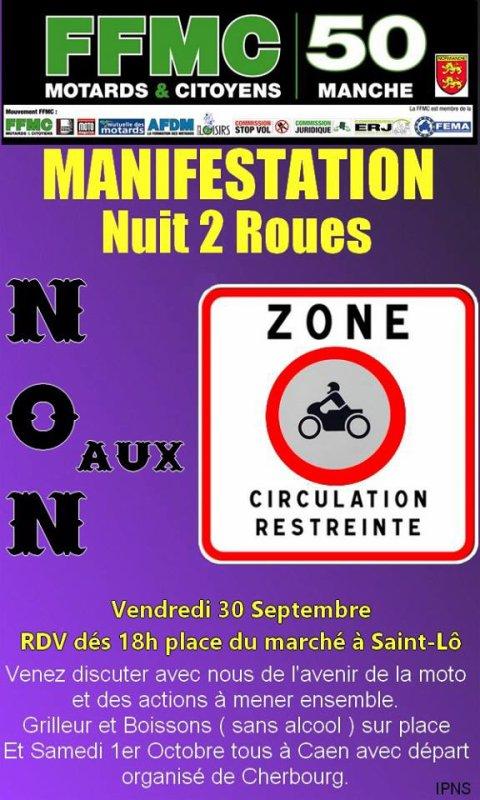 Nuit 2 roues, ce soir à Saint-Lô
